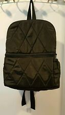 New Kenzie Alexander Black Faux Silk Diaper Backpack Bpk-Fs13