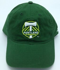 MLS Portland Timbers Adidas Adult Slouch Adjustable Fit Curved Brim Cap Hat NEW!