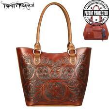 Montana West Handbag Tote Vintage style tooling brown
