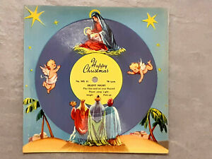 VINTAGE 1950's MELODY CHRISTMAS CARD MX11 PLAYABLE 78rpm 'SILENT NIGHT'