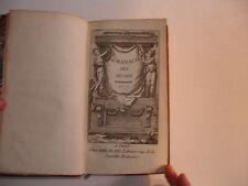 ALMANACH DES MUSES 1777 MUSIQUE NOTEE JEAN-JACQUES ROUSSEAU