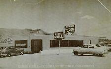 Sinton's Dirks Grill, Colorado Springs, Colorado Vintage Postcard F101