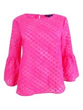 fa10e64614c Tommy Hilfiger Womens Pink Polka Dot Pullover Top Blouse XL BHFO 8450