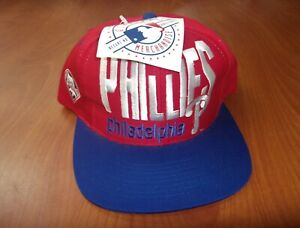 Vintage Rare Logo 7 MLB Philadelphia Phillies Baseball Snapback Hat ~NWT~