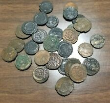 Thirty Late Roman or Byzantine Aes Ancient Coins