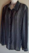 Fella Hamilton long-sleeved black & white shirt/blouse Size 14