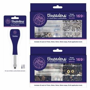 Threaders Screw Punch and Snap Tool Kits by Crafters Companion