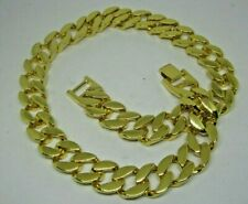 Chunky 20 inch Length Plain Gold Plated Miami Cuban Link HipHop Bling Chain