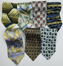 Lot of 7 Vintage Jerry Garcia Ties Mens Neck Ties 100% Silk Collection 14