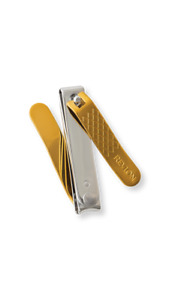 New Revlon Gold Series Titanium Dual-Ended Nail Clipper finger toe