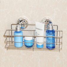 Non Rust Stainless Steel Bath Shower Suction Basket Caddy Bathroom Storage Tidy