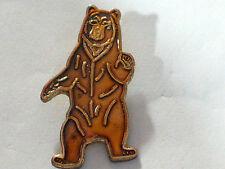 Golden Brown Bear Pin (lg) - Standing (#2 Bear)