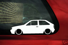 2x Lowered car outline stickers - for VW Polo Mk2 F g40 / GT  Coupw