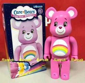 Medicom 2017 Be@rbrick America Greeting 400% Care Bears Cheer Bear Bearbrick 1p