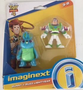 Imaginex Toy Story 4, Bunny And Buzz Light Year. NEW