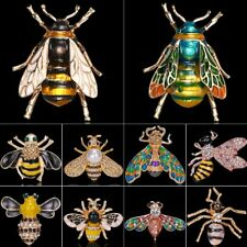 Fashion Bumble Bee Crystal Brooch Pin Costume Badge Women Party Jewellery Gift