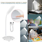 Dimmable LED Desk Light Table Bedside Reading Lamp Touch Sensor Rechargeable USB