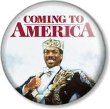 "Coming to America 25mm 1"" Pin Button Badge Eddie Murphy Movie Comedy Film 1980s"