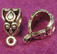 10Pcs. Tibetan Silver BAIL Pendant or Charm Connectors Jewelry Findings BA28