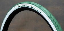 "700x35 Green Whitewall C 29er Schwalbe Bicycle Tires 28"" Antique Wood Wheel Bike"