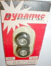 Vintage SMALL Jumbo Wheels & Tires by Dynamic slot car #687 NOS 1pr 5:40