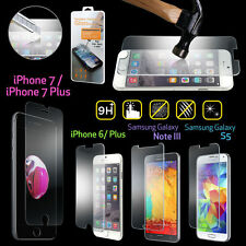 2x Premium Real Tempered Glass Film Screen Protector for Apple iPhone 7 Samsung