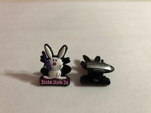 Get 2 Same Charms - Happy Bunny 2cute 2talk 2u Shoe-Doodle Shoe Charm HAP1004