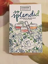 Everyday Minerals - So Splendid, Ultimate Blush Kit, 4 Piece Set ( Vegan )- BNIB