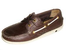 Original Penguin Men's Shoes - Skimmer Leather Boat Shoe - Kaffee Size 9