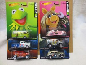 MUPPETS FULL SET 6 CARS REAL RIDERS HOT WHEELS  1:64