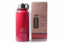 The Gulper Thermo Insulated Stainless Steel Water Bottle, Wide Mouth, 27oz - Red