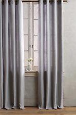 NWT Anthropologie Gray Linen Grommet Curtain Single Panel 50 X 96