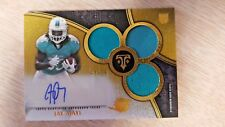 2015 Topps Triple Threads Jay Ajayi Rookie Relic Auto Gold /25 Dolphins