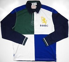 BROOKS BROTHERS NWT MENS XL POLO SWEATER GOLDEN LOGO BLOCK PATCH WORK RARE NEW