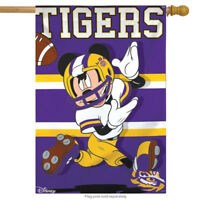 "Louisiana State University Tigers NCAA Mickey Mouse House Flag Licensed 28""x40"""