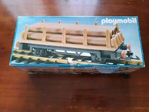 Playmobil Wagon à ridelles réf: 4105 avec sa boite version 1 vintage