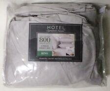 6pc 800Tc King Signature Glacier Gray Sateen Sheet Set Dp 100% Cotton Bedroom