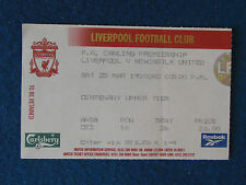 Liverpool v Newcastle United - 25/3/2000 - Ticket
