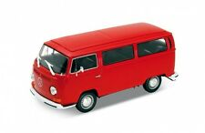 Welly - VW Volkswagen T2 Bus (1972) Red - Die Cast Model Scale 1:24