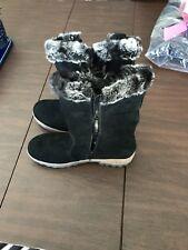 NEW Remonte Black Boots, Size 11-11.5, UK 42, Faux Fur Details