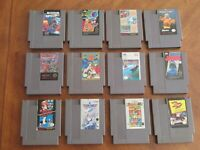 ROUGH  Nintendo NES Games Lot Of 12 Games Only partially tested