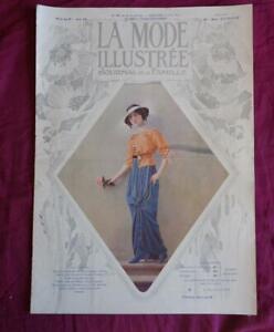 la mode illustrée n° 26 de 1913 avec son patron d'origine et sa gravure en BE