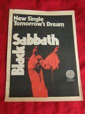 BLACK SABBATH ORIGINAL 1972 VINTAGE MUSIC PRESS ADVERT TOMORROW'S DREAM SINGLE