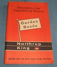 Northrup King Descriptive List of Vegetables and Flowers - C2764
