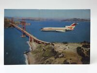 Flying Over Golden Gate Bridge Airplane San Francisco Unposted Postcard E450X