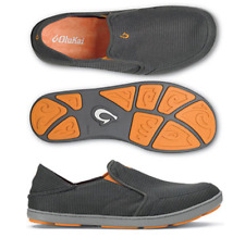 Olukai Nohea Mesh Dark Shadow/Dark Shadow Loafer Men's US sizes 7-15 NEW!!!