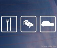 Comer dormir Mini Funny euro car/van/window / bumper/laptop Vinilo calcomanía / etiqueta adhesiva