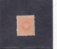 ANGOLA  CROWN 200 REIS VARIETY PERF. 12,5   (1870-77) MH