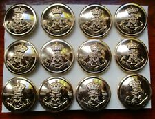 """12x British Army:""""GREEN HOWARDS STAYBRITE BUTTONS"""" (Unissued, Mint Condition)"""