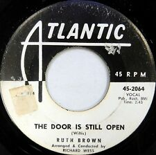 RUTH BROWN 45 The Door is Still Open ATLANTIC Classic R&B White Label PROMO #D31